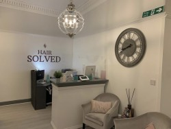 interior reception at hair solved glasgow