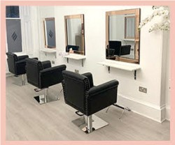 the main salon space at Hair Solved Glasgow